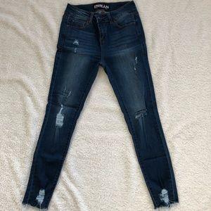Fashion Nova cut off destroyed jean.